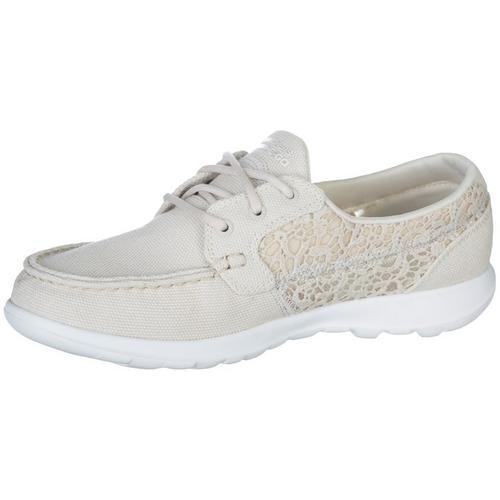 Skechers Womens GOwalk Lite Mira Boat Shoes