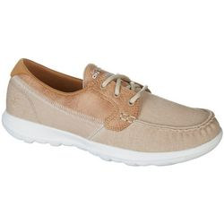 Skechers Womens OTG Go Lite Coral Boat Shoes