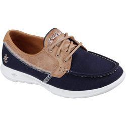 Skechers Womens OTG Go Lite Coral Boat Shoes