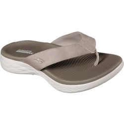 Skechers Womens On The Go 600 Polished Flip Flops