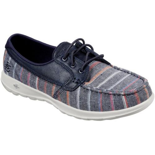 Skechers GOwalk 5 True Heathered Grey Mesh Lace Up Shoes eFAhX