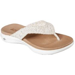 Skechers Womens On The GO Luxe Graceful Flip Flops