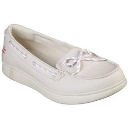 Skechers Womens Beach Life Canvas Boat Shoes