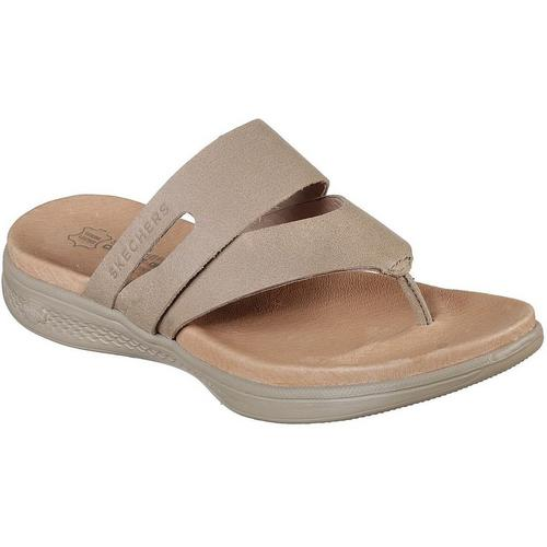 b2938eeac186b3 Skechers Womens On The GO Luxe Thong Sandals