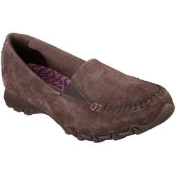 Skechers Womens Bikers Wayfarer Slip On Shoes