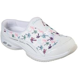 Skechers Womens Palm Tree Print Commute Athletic Mules