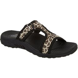 Skechers Womens Reggae Leopard Sandals
