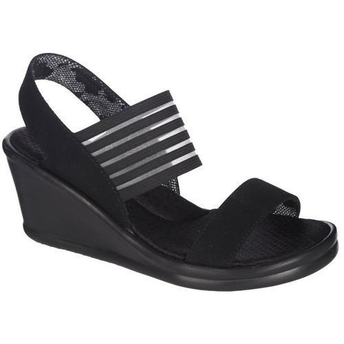 b5ebcb4e7b14 Skechers Womens CALI Rumblers Sci Fi Wedge Sandals