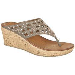 Skechers Womens Dazzled Beverly Wedge Sandals
