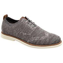 Bill Blass Mens Grey Fly Knit Oxford Shoes