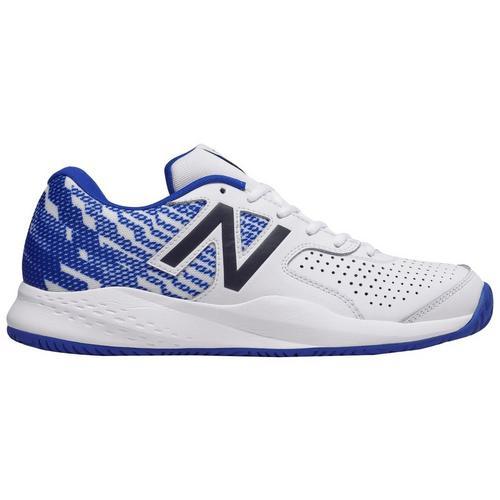 timeless design 31642 9bdab New Balance Mens 696 Blue Graphic Tennis Shoes