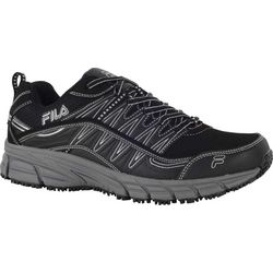 Fila Mens Memory Primeforce Slip Resistant Athletic Shoes