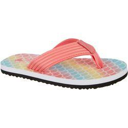 Reel Legends Little Girls Shore Flip Flops