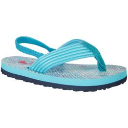 Reel Legends Toddler Girls Libby Water Flip Flops