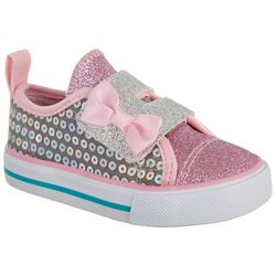 Legendary Laces Toddler Girls Blake Glitter Shoes