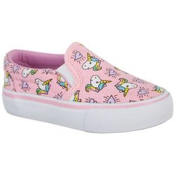 Legendary Laces Toddler Girls Unicorn Slip On Shoes
