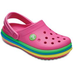 Crocs Toddler Girls Rainbow Band Clogs