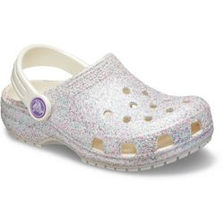 Crocs Toddler Girls Classic Glitter Clogs