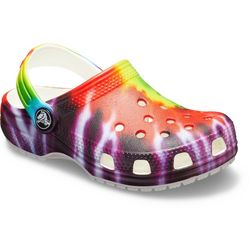 Crocs Toddler Girls Tie Dye Classic Clogs