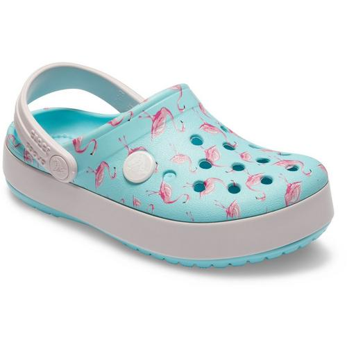 beeee9679a66 Crocs Toddler Girls Flamingo Print Clogs