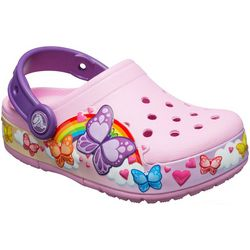 Crocs Toddler Girls Butterfly Band Lights Clogs