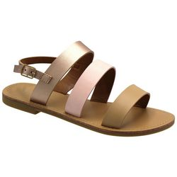 Nicole Miller Girls Ruby Triple Strap Sandals