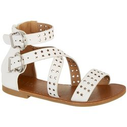 Nicole Miller Girls Bianca Star Gladiator Sandals