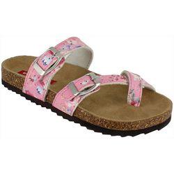 Unionbay Little Girls Laney Floral Sandals