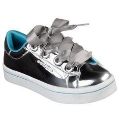Skechers Girls Metallic Upper Ribbon Lace Up Shoes