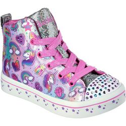 Skechers Girls Shuffles Twi-Lites Light Up Sneakers