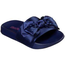 Skechers Girls Sunny Bow Slide Sandals