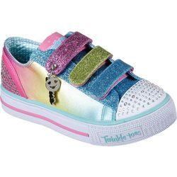Skechers Girls Shuffles Stylin' Smiles Girls Sneakers