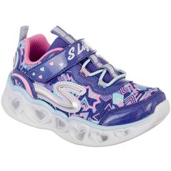 Skechers Toddler Girls Heart Lights Athletic Shoes