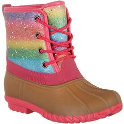 Olivia Miller Girls Glitter Duck Boots