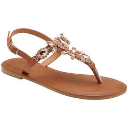 Olivia Miller Girls Jewelled Thong Sandals