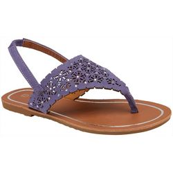 Olivia Miller Girls Cutout Thong Sandals
