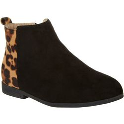 Olivia Miller Girls Animal Print Colorblock Ankle Boots