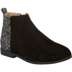 Olivia Miller Girls Glitter Colorblock Ankle Boots