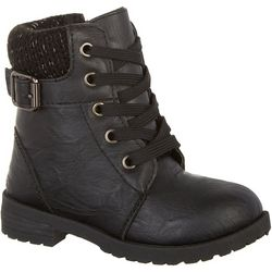JESCO Girls Sweat Knit Inset Boots