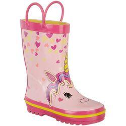 Laura Ashley Toddler Girls Unicorn Rain Boots