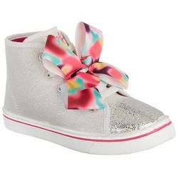 JOJO Girls High Top Bow Sneakers