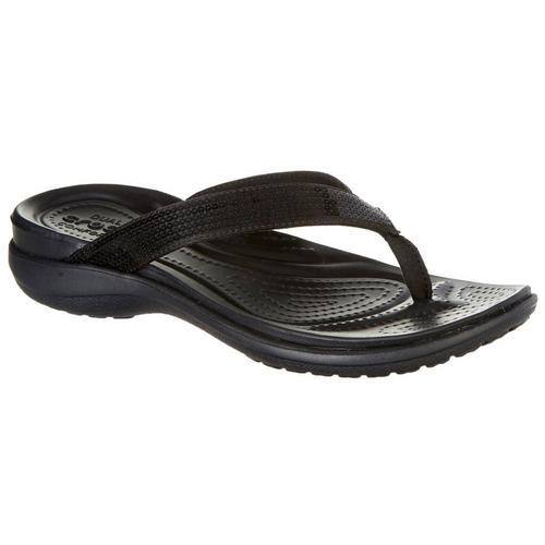 149e884d650 Crocs Womens Capri V Sequin Flip Flops