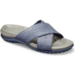 Crocs Womens Capri Cross Band Casual Sandals