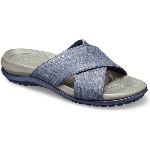 afef536880a6 Crocs Womens Capri Cross Band Casual Sandals