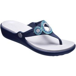 Crocs Womens Sanrah Diamante Wedge Sandals