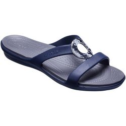 Crocs Womens Sanrah Hammered Casual Sandals