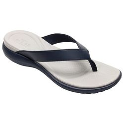 Crocs Womens Capri V Blue Flip Flops