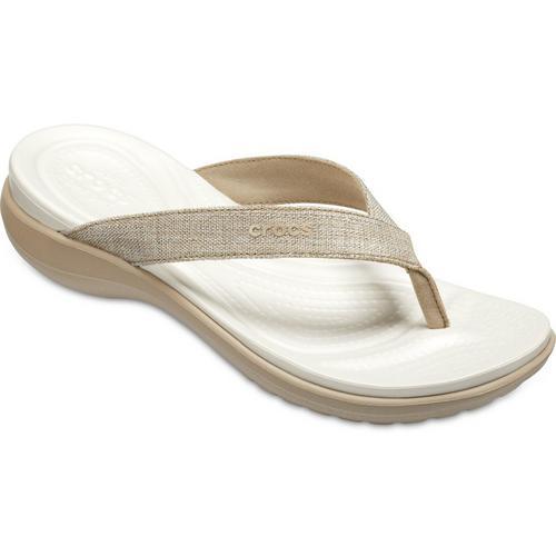 5d2c870ab13e Crocs Womens Capri V Shimmer Flip Flops