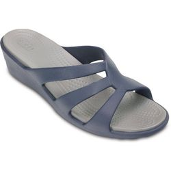 Crocs Womens Sanrah Strappy Slide Sandals