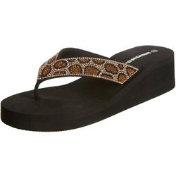 Unionbay Womens Animal Flip Flops